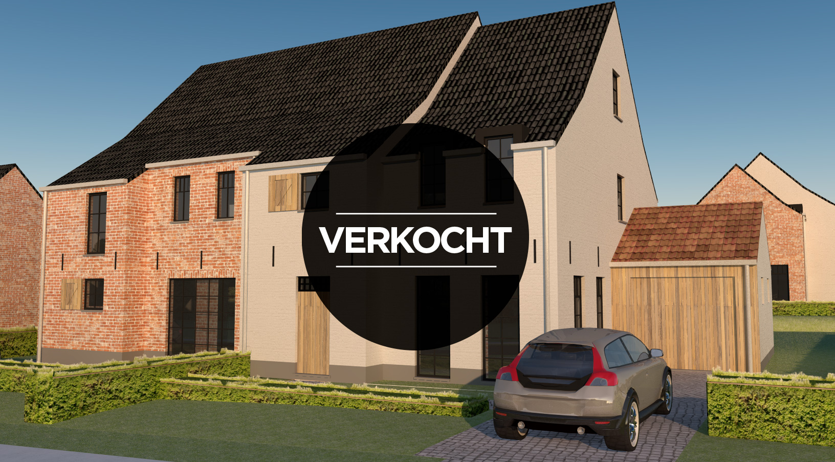 Lot 3 – Holsbeek – halfopen woning >>